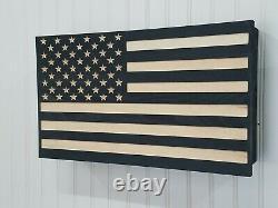 American Flag firearm concealment furniture compartment cabinet secret hidden