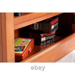 American Furniture Classics 10 Gun Key Locking Wooden Storage Display Cabinet