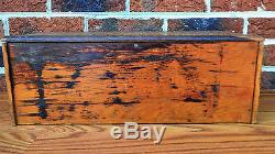 Anitque Vintage Wood Display Case Box for Drill Bits, Tap & Die RARE & UNIQUE