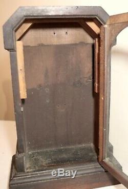 Antique 19th century handmade Art Deco wood glass display case display stand