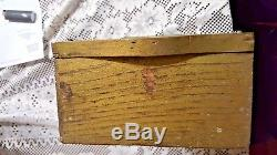 Antique Ace Combs Store Display Wood Advertising Case Drawers