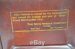 Antique Boye Needle Co Store Display Crochet Hooks 1919 Wood Advertising Case