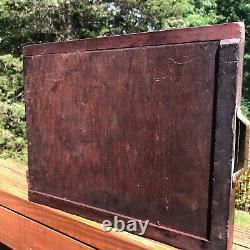 Antique Caslon London printer's type drawer shadow box or display wood & brass