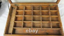 Antique Counter Top Fountain Pen NIB Country Store Display Case Box Tadella Pens