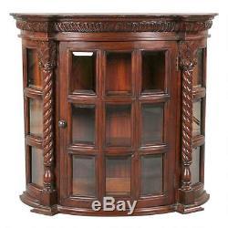 Antique Display Cardington Square Manor 27.5 Hardwood Wall Curio Cabinet