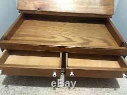 Antique J & P Coats Cabinet Spool Thread Wood