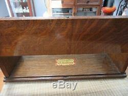 Antique Mercantile Sealpackerchief Handkerchief Counter Top Wood Display Case