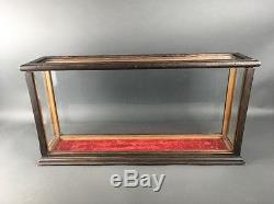 Antique Oak Wood Ship Model Taxidermy Country Store Table Top Display Case