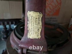 Antique Standard Computing Cheese Wheel Cutter cast iron & wood general store