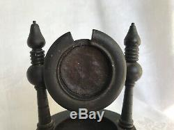 Antique Vintage Pocket Watch Holder Wood Case Display Stand Base Tray Victorian