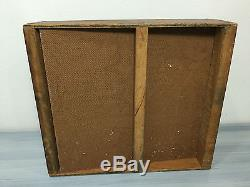 Antique Vintage Squire Cigars Advertising Display Glass Wood Countertop Case CS6