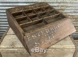 Antique Vtg 20s-30s ESTERBROOK COUNTER TOP FOUNTAIN PEN NIB DISPLAY CASE CABINET