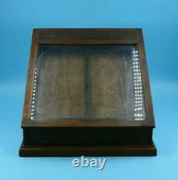 Antique Willson Safety Goggles Wood Display Case Counter Top
