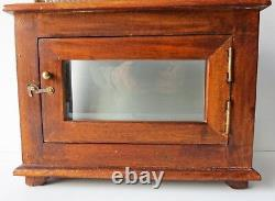 Antique Wood Display Case for Scale or other Instruments Early 20th Century