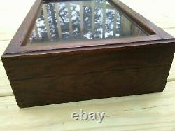 Antique Wood Display Case with Hinged Cover 11 x 18