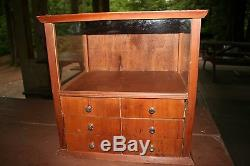 Antique Wood Ship Model Taxidermy Country Store Table Top Display Case Vintage