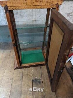 Antique Zeno gum wood display case
