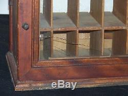 Antique c1880-1895 Display Case Pine/Wood Dye/Spice Organizer Shaker Made