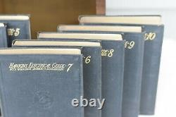 Audels Hawkins Electrical Guide Books 1-10 1917 2nd Edition with Wood Display Case
