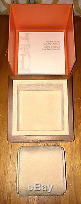 Auth HERMES Wood Felt PRESENTATION Storage DISPLAY CASE WATCH BOX & USER MANUAL