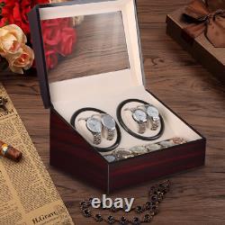 Automatic Watch Winder Quiet Motor Self Winding 10 Watches Storage Display Case