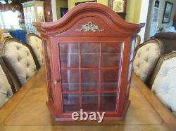 BOMBAY CO Table Top Wall Hanging Cherry Wooden Glass Curio Display Cabinet Case