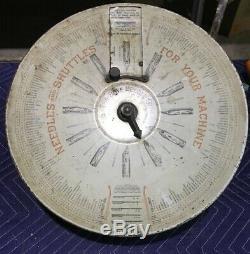 BOYE Sewing Machine Store Counter Display Case Needles Bobbins Shuttles