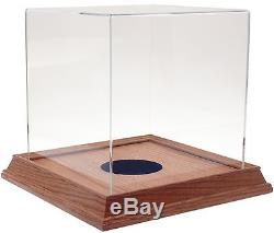 Basketball / Soccer Ball Display Case with Wood Base Honey