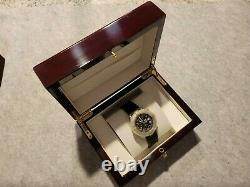 Breitling Watch Solid Piano Wood Collector Presentation Box Storage Display