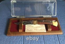 Buck Custom Knife With Display Case 110 Serial Number 090 USS BATTLESHIP IOWA