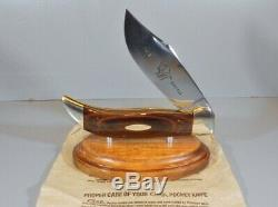 CASE XX Huge Buffalo Bulldog Folding Hunter Clasp Knife 1973 Display Stand EXC