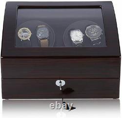 CRITIRON 4+6 Automatic Watch Winder Luxury Storage Case Rotating Display Box