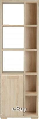 Cambourne Light Sonoma Oak 1 Door 5 Shelf Unit Book Case Display Unit Furniture