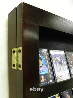 Card Display Case Deep Black Can Hold up to 60-74 non Graded Baseball Cards