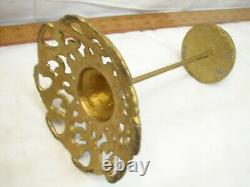 Cast Iron Victorian Ornate Hat Stand Wig Store Display Wood Top Gold Finish
