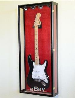 Clear Viewing Guitar Display Case Fender Acoustic Electric Bass Wall Rack Holder