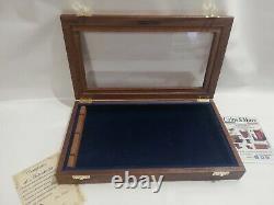 Cofanetto espositore in legno per coltelli Wood Display Case for Knives Coins