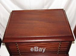 Coin Collection 100+ Wood Storage Display Box Case Chest Drawers Holders & Slabs
