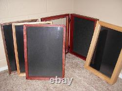 Coin Display Case Wall Rack Military Cherry wood challenge coins
