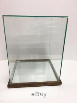 Collector Doll Glass & Mirror Oak Wood Display Case Fits Up To 10