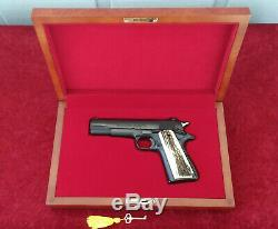 Colt 1911 Wood Presentation Case Pistol Display Box -Custom Fitted Made to Order