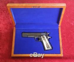Colt 1911 Wood Presentation Case Pistol Display Box Custom Made to Order