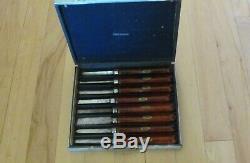 Craftsman Vintage Wood Lathe Turning Chisel Set W /display Case