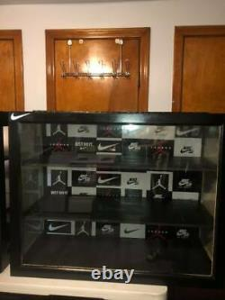Custom Made Nike Sneaker + Hat Display Case Heavy Duty Locking Protect Your Item