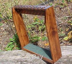 Custom Made Solid Wood Display Rack Case for Set Golf Clubs Irons or 9 Putters