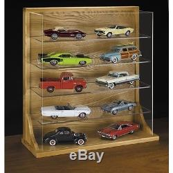 Danbury Mint Wood Display CASE ONLY For 10 124 Scale Diecast Cars SJ