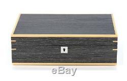 Dark Ginkgo & Walnut 10 Wrist Watch Jewellery Display Storage Wooden Case Box