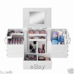 Deluxe Cosmetic Organizer Makeup Wood Case Holder Display Stand Storage Box New