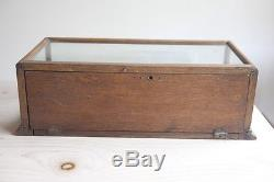 Dentyne Gum Display Case Wood Oak Antique Rear glass Store counter Packaging