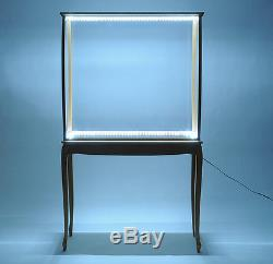 Display Case 40.5 Cabinet withLED Lights Wood & Plexiglas Tall Ships Yacht Boats